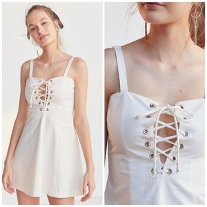 STAUD Dresses - SOLID + STRIPED x STAUD Catalina Seersucker Dress